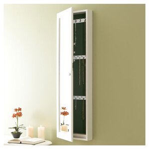 Wall Mirror Jewelry Armoire wall mounted jewelry armoires you'll love | wayfair