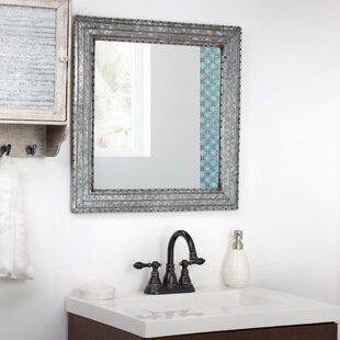 Affordable Baumbach Galvanized Square Metal Wall Mirror By Williston Forge