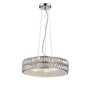 Rosdorf Park Rolston Crystal 1-Light 33W Drum Pendant