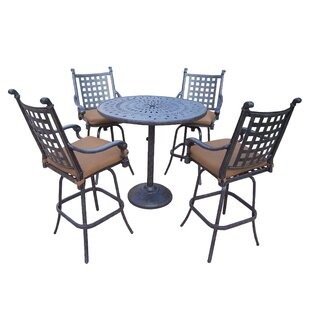 Vandyne 5 Piece Bar Height Dining Set with Cushions
