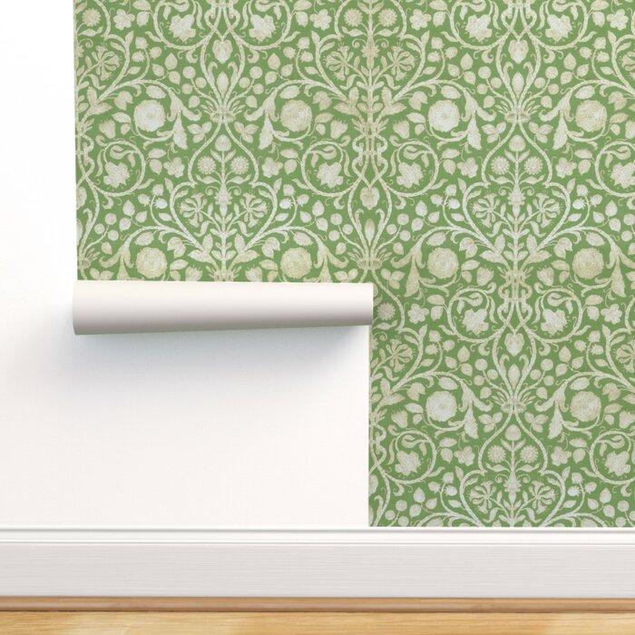Hausmann Damask Removable Wallpaper Roll