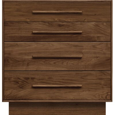 Moduluxe 4 Drawer Dresser Copeland Furniture Color: Smoke Cherry