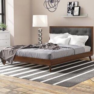 Dewsbury Mid Century Queen Upholstered Platform Bed by Corrigan Studio