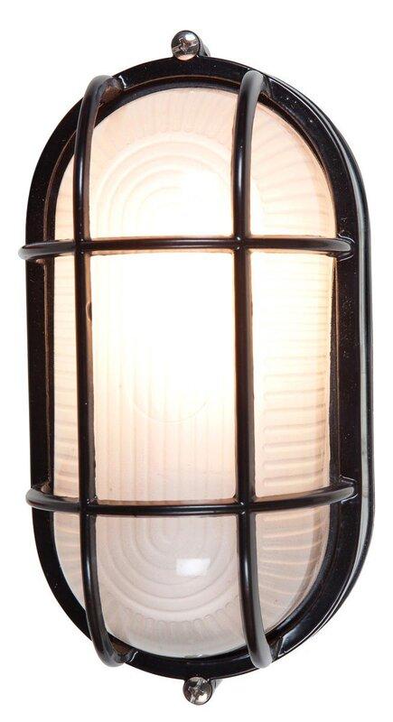 Rivka 1 light glass shade outdoor bulkhead light reviews allmodern rivka 1 light glass shade outdoor bulkhead light aloadofball Images
