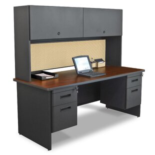 Crivello Door Computer Desk with Hutch