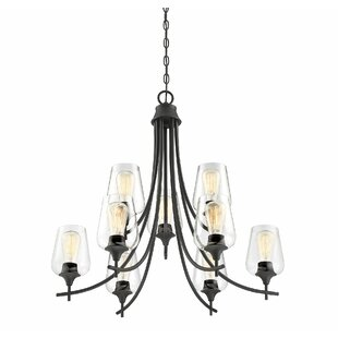 Hickerson 9-Light Shaded Chandelier by Mercury Row