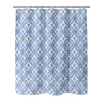 Charlton Home Fenchurch Geometric Shower Curtain Wayfair