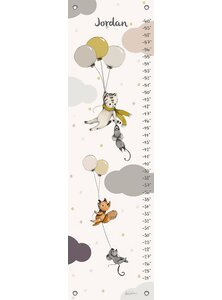 Flying Away Personalized Canvas Growth Chart