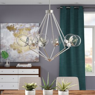 Byrd 6-Light Geometric Chandelier by Ivy Bronx