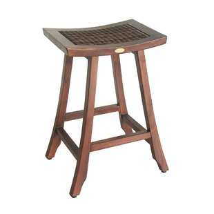 EcoDecors Satori Teak Patio Bar Stool