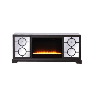 McMillian Mirrored TV Stand for TVs up to 60 with Fireplace