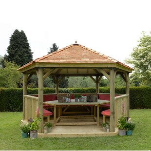 Furnished 4.9m X 4.3m Wooden Gazebo With Cedar Roof By Sol 72 Outdoor