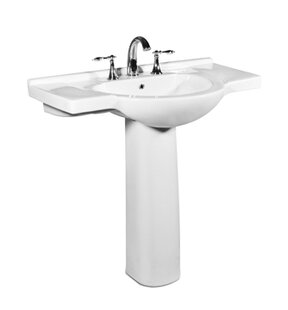 Palermo Ceramic 34 Pedestal Bathroom Sink with Overflow BySt Thomas Creations by Icera