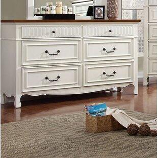 Alcott Hill Tova 6 Drawer Double Dresser