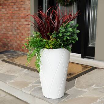 Latitude Run Anmay Self Watering Recycled Rubber Pot Planter Reviews Wayfair