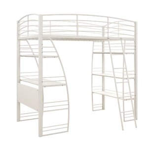 Kronos Twin Loft Bed with Shelves by Viv  Rae