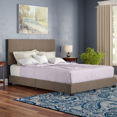 Adrienne Queen Upholstered Standard Bed Color: Peppery Brown and Tan by Andover Mills