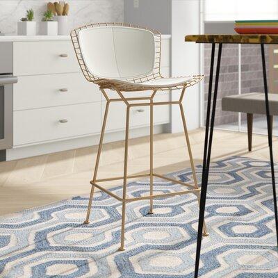 Amazing Divito 26 Bar Stool Brayden Studio Color White Lamtechconsult Wood Chair Design Ideas Lamtechconsultcom
