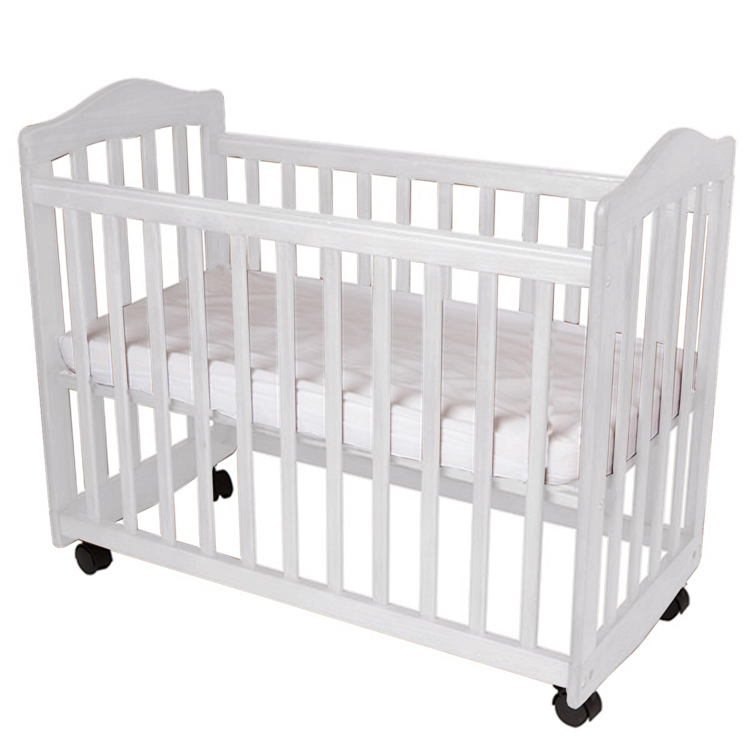 """La Baby 2/"""" Compact Crib Mattress White Free Waterproof Small /& Compact New"""