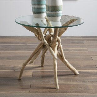 Inshore Driftwood End Table by Rosecliff ..