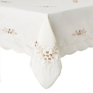 Lolley Blossom Embroidered Rectangular Tablecloth