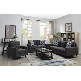 Ivy Bronx Lainey 3 Piece Living Room Set