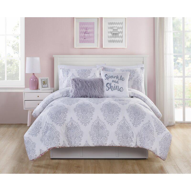 Three Posts Baby Kids Dermott 4 Piece Reversible Comforter Set Reviews Wayfair