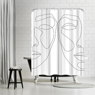 East Urban Home Explicit Design Double Face Shower Curtain