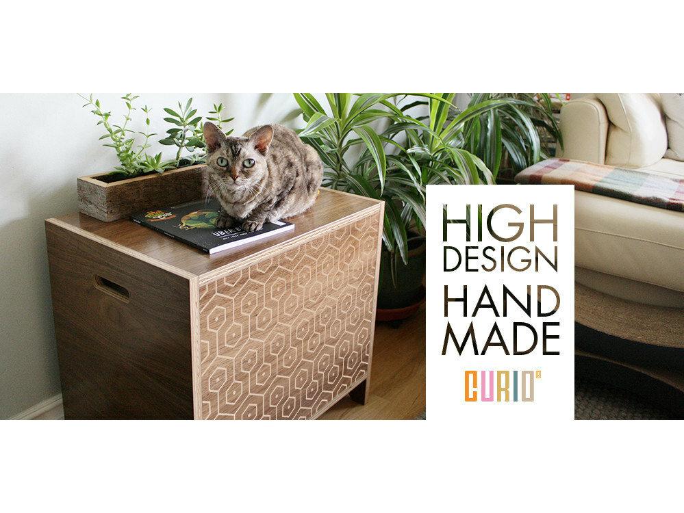 curiocraft modern litter box enclosure reviews wayfair - Cat Litter Box Enclosure