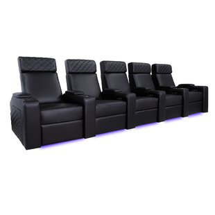 Orren Ellis Nappa Genuine Leather Home Theater Row Seating