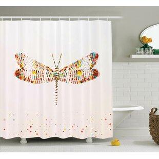 pretty dragonfly shower curtains. Minni Majestic Dragonfly Art Shower Curtain  Wayfair