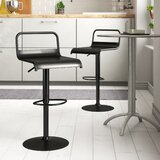 Clark Adjustable Height Swivel Bar Stool (Set of 2) by Zipcode Design™