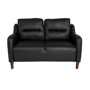 Laflamme Upholstered Bustle Back Loveseat by Ebern Designs