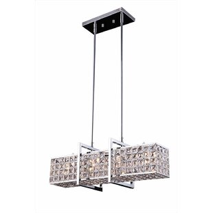 Best Reviews Halo 4-Light Crystal Chandelier By Bromi Design