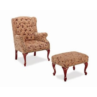Wingback Chair and Ottoman