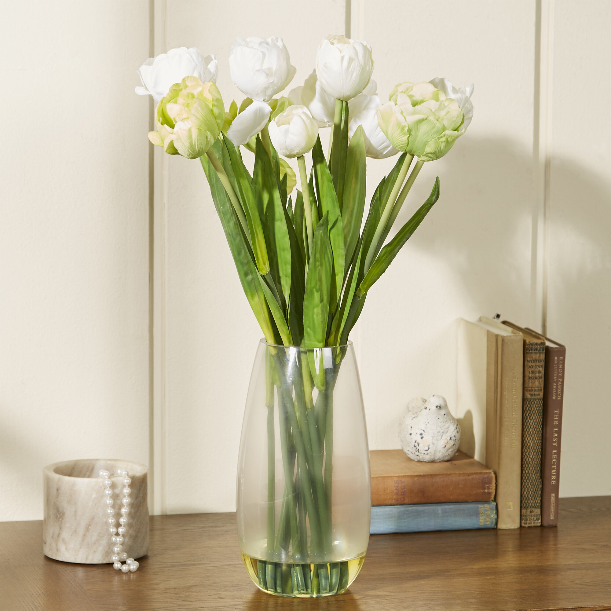 Nearly Natural Tulip With Vase Silk Floral Arrangements Reviews