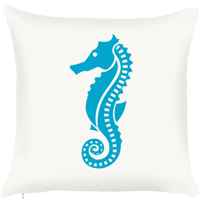 Highland Dunes Brannon Seahorse Throw Pillow Wayfair