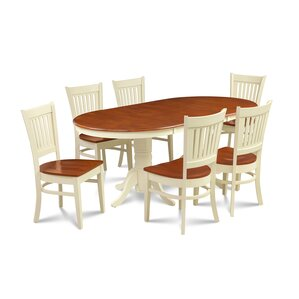 Lunde Traditional 7 Piece Dining Set by Andover Mills