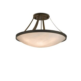 Meyda Tiffany 8-Light Semi-Flush Mount