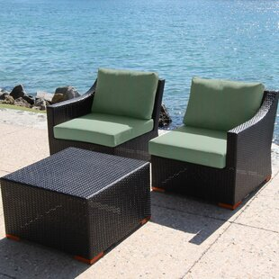 Marcelo 3 Piece Conversation Set with Cushions by Bellini Home and Garden