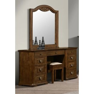 Dowden Dressing Table Set With Mirror By Astoria Grand