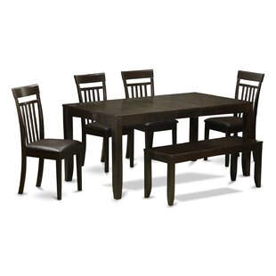 Lynfield 6 Piece Extendable Dining Set East West Furniture