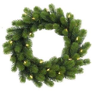 47cm Lighted Orsa Fir Christmas Wreath By The Seasonal Aisle