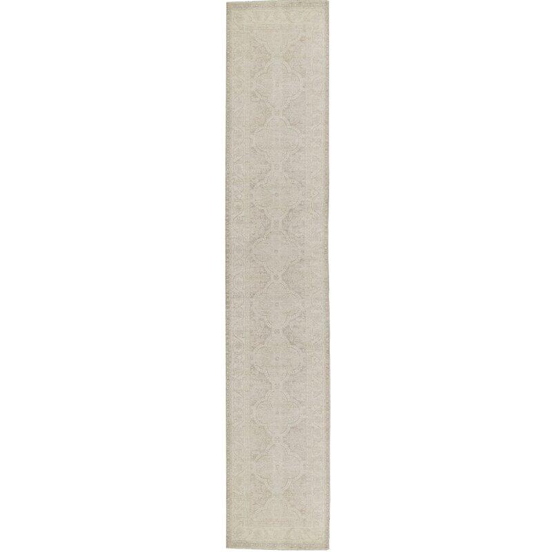 Bokara Rug Co Inc Runner Hand Woven Wool Beige Rug Wayfair