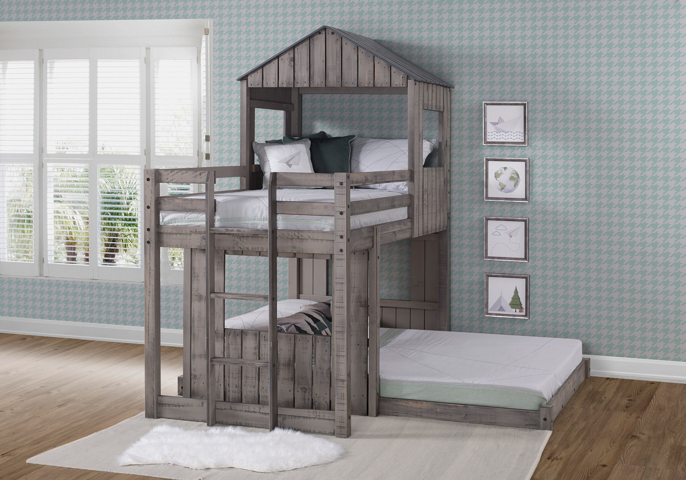 Scholl Twin Over Full L Shaped Bunk Bed