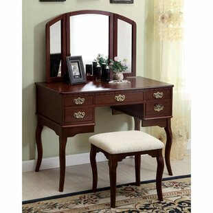 Fleur De Lis Living Courtright Vanity with Mirror