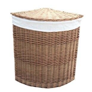 Corner Lining Wicker Laundry Bin By August Grove
