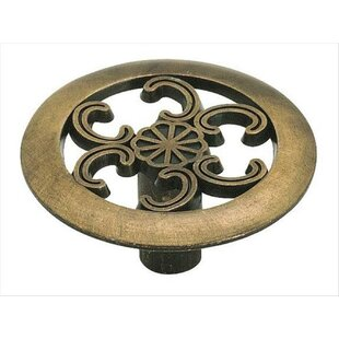 Allison Antique Brass Mushroom Knob