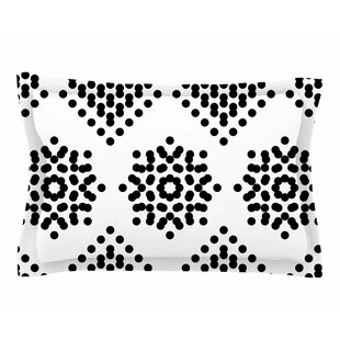 Tiny September 'Black And White Dot Party' Digital Sham by East Urban Home 2019 Sale