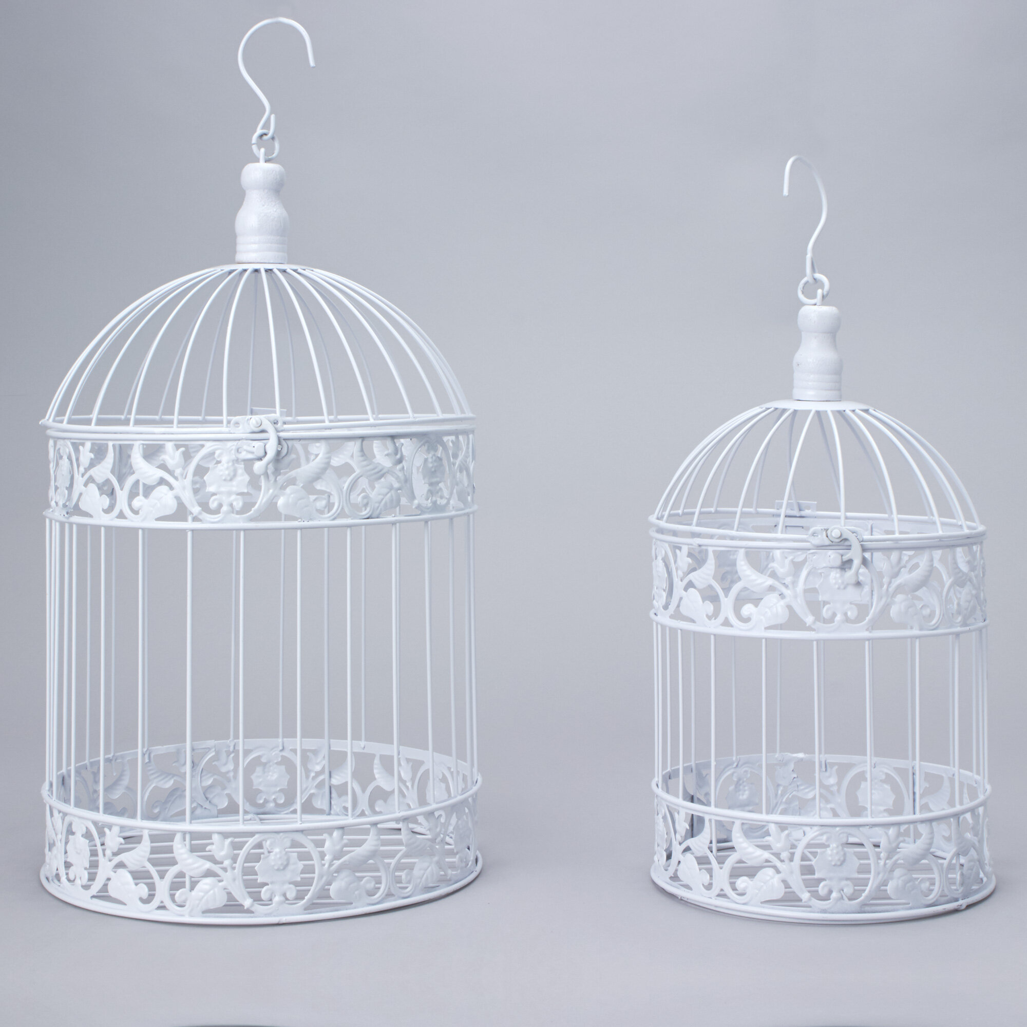 Ophelia Co 2 Piece Manuel Metal Decorative Bird Cage Set Reviews Wayfair